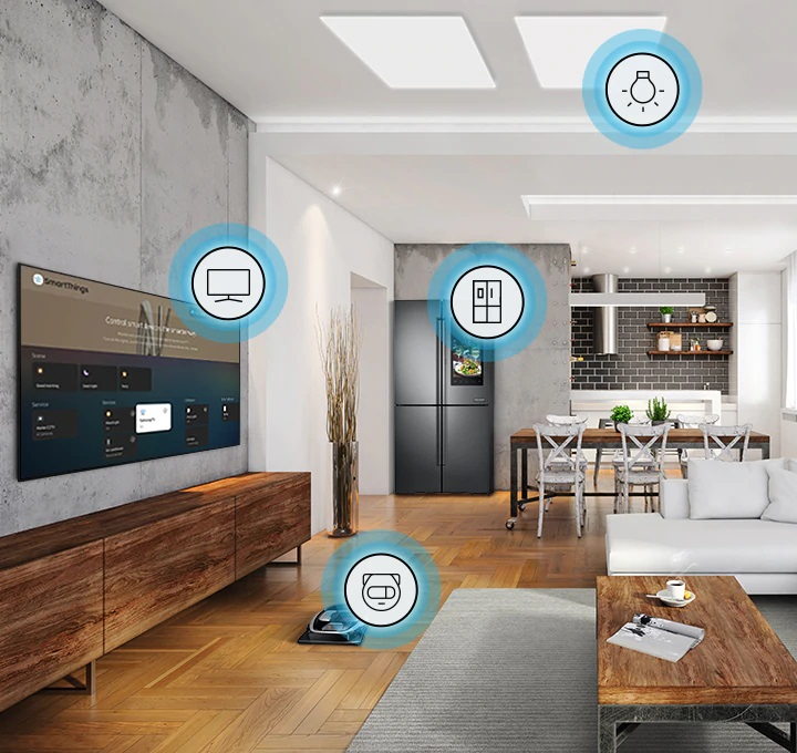 Le TV Qled SAMSUNG QE65Q60T inclut le mode SmartThings