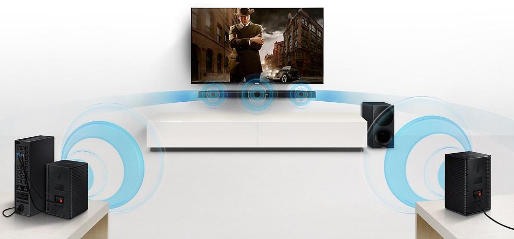 Samsung HW-M450, Barre de son 2.1, 320W, Bluetooth, caisson de basse sans fil