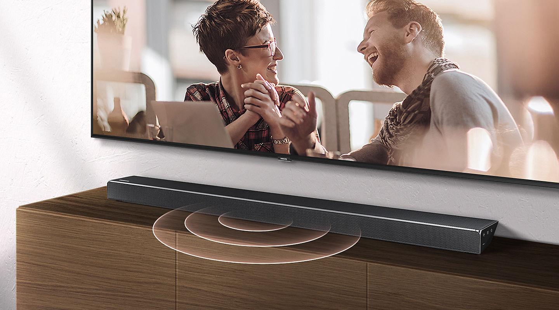 Barre de son Samsung HW-N650, Haut-parleur central intégré