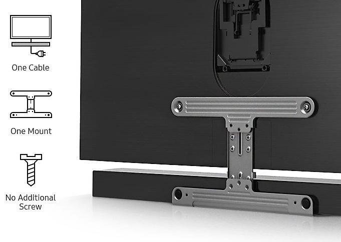 Samsung HW-MS650, Barre de son incurvée Sound+ 3.0, caisson de basse intégré, Wi-Fi, Bluetooth