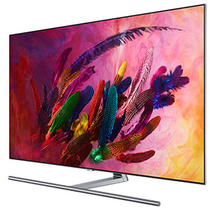 Vue De Cote Du Televiseur QLED Samsung Q7F 2018
