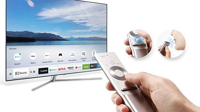 La télécommande One Remote du Samsung 65Q7 permet de piloter tous vos appareils