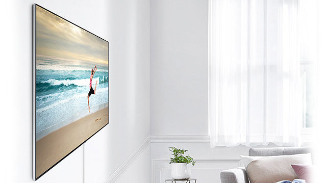 tv 4k uhd 163 cm qled samsung qe65q7f. Black Bedroom Furniture Sets. Home Design Ideas