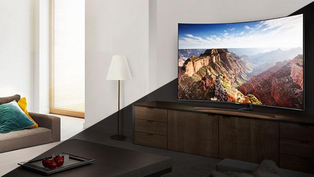 Gestion du contraste du TV Samsung QE55Q8C 2018