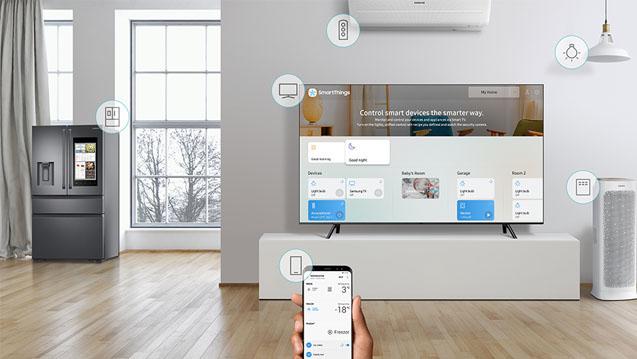 Contrôler votre maison avec le TV Samsung QLED 55Q8C 2018