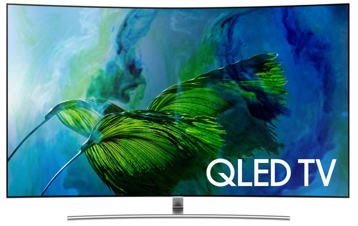 Gros plan sur le téléviseur QLED 4K-UHD 165 cm QE75Q8C