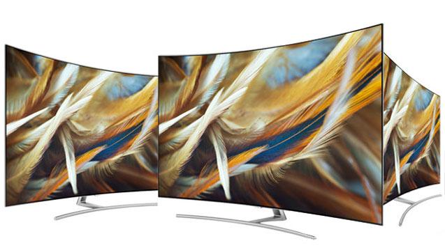 L'angle de vision est très large sur les téléviseurs incurvés QLED Samsung 75Q8C