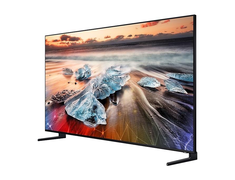 Vue de côté du téléviseur QLED 8K Samsung Q950R