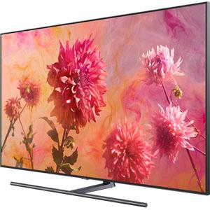 Vue de côté du téléviseur QLED Samsung Q9F 2018