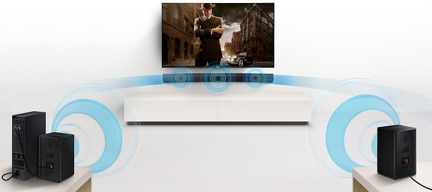 Enceintes arrière sans fil, Pour barre de son Sound+, Samsung SWA-9000S