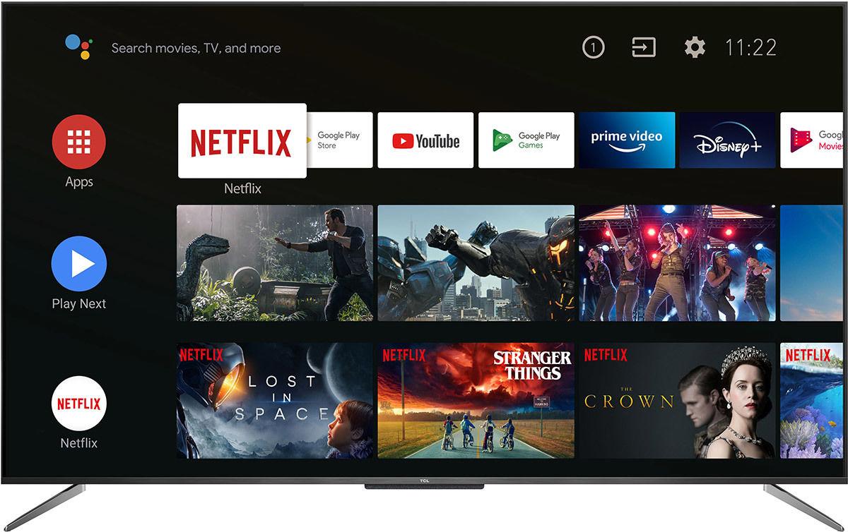 Téléviseur TCL 65C715, compatible Netflix