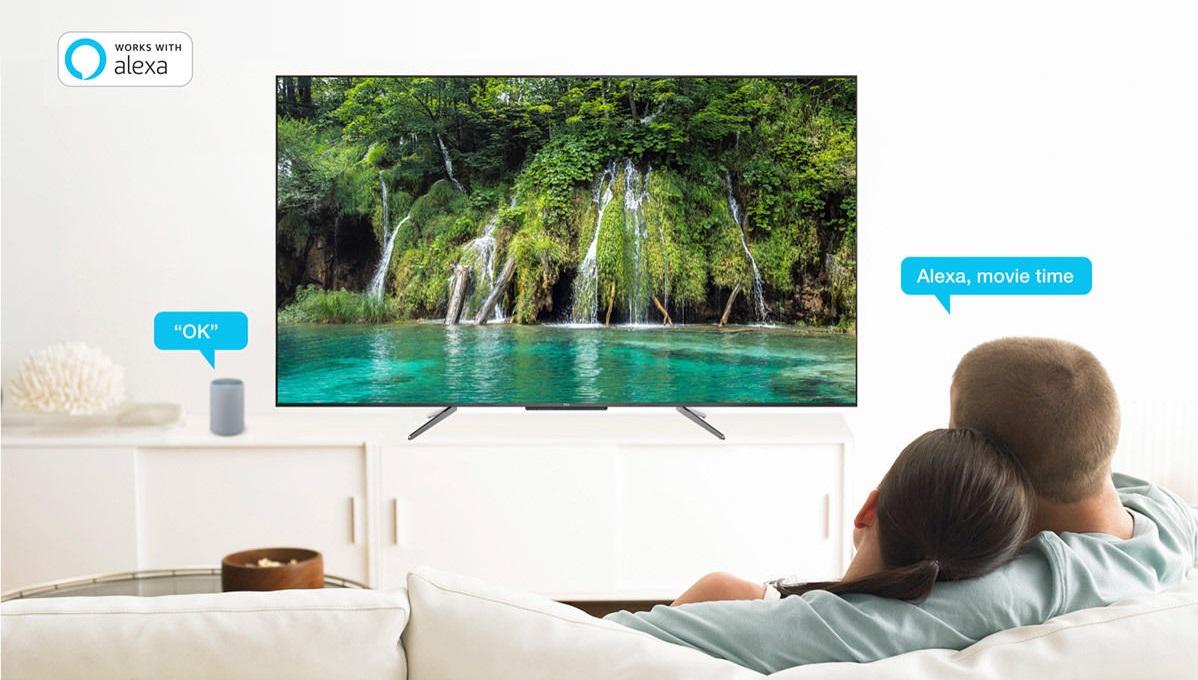 Téléviseur TCL 65C715, commande vocale et Android TV