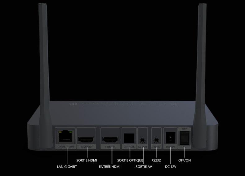 ZIDOO Z9X connectiques
