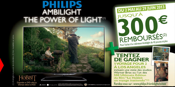 300€ de réduction sur les TV Ambilight Philips 42