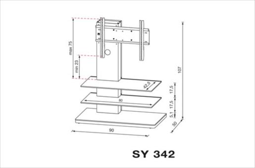 Plan meuble TV SYDNEY SY343