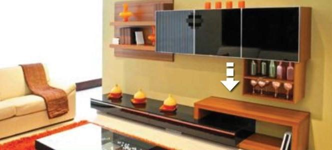 Ascenseur pour écran plat dans le salon VENSET TS1000c