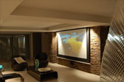 Intégration home cinéma avec vidéoprojecteur Mitsubishi