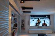 Salon avec intégration home cinéma