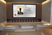 Salle de cinéma avec traitement acoustique