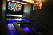 Vidéoprojection et home cinéma dans un espace piscine