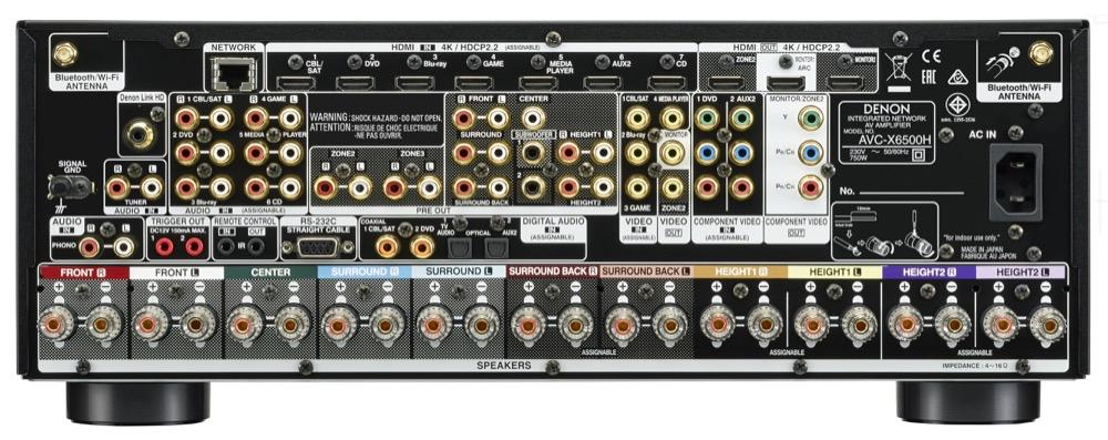 DENON AVC-X6500 H, compatible UHD/4K 60Hz, HDCP2.2, HDR, HLG, Pure Color 4:4:4 et Dolby Vision