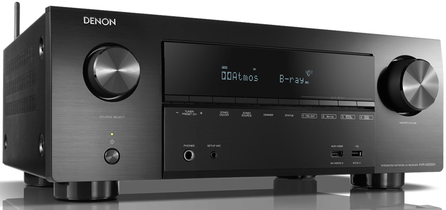 Denon AVR-X2500 H, 7.2 canaux, 4K, Dolby Atmos,