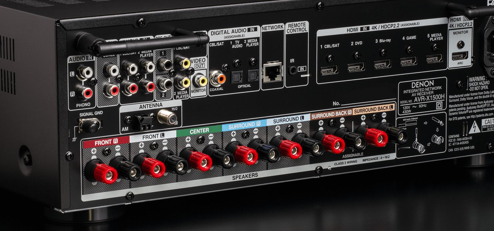 Denon AVR-X1500 H, amplificateur Dolby atmos