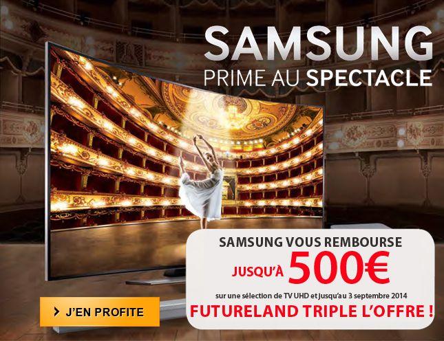 Futureland triple l'offre de remboursement Samsung