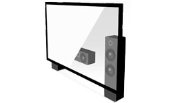 Ecran de projection fixe sur cadre transparent acoustiquement Lumene Movie Palace Acoustic 300C