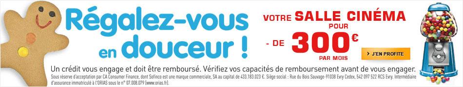 Votre salle cinéma pour moins de 300 euros par mois !
