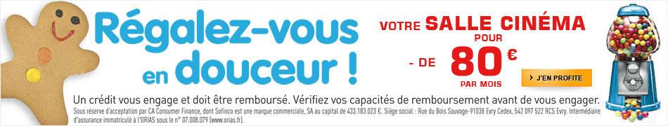 Votre salle cinéma pour moins de 120 euros par mois !