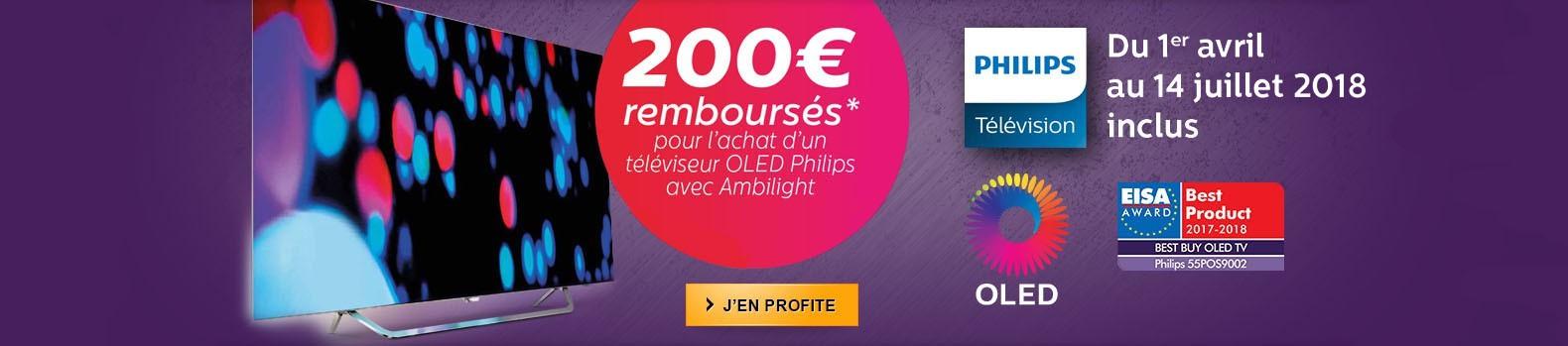 Philips vous rembourse 200€ sur l'achat d'un téléviseur OLED 55POS9002