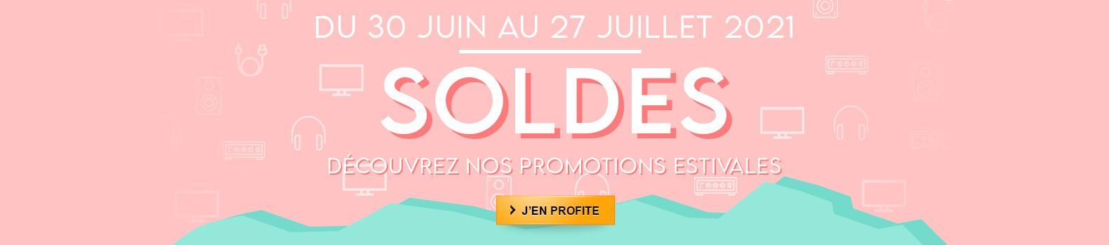 Toutes nos offres promos pour les soldes d'été jusqu'au 27 Juillet 2021