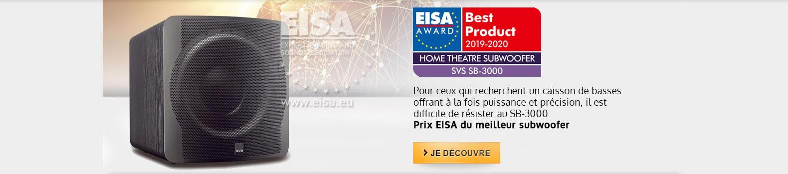 Le SVS SB-3000 obtient le prix EISA du meilleur subwoofer