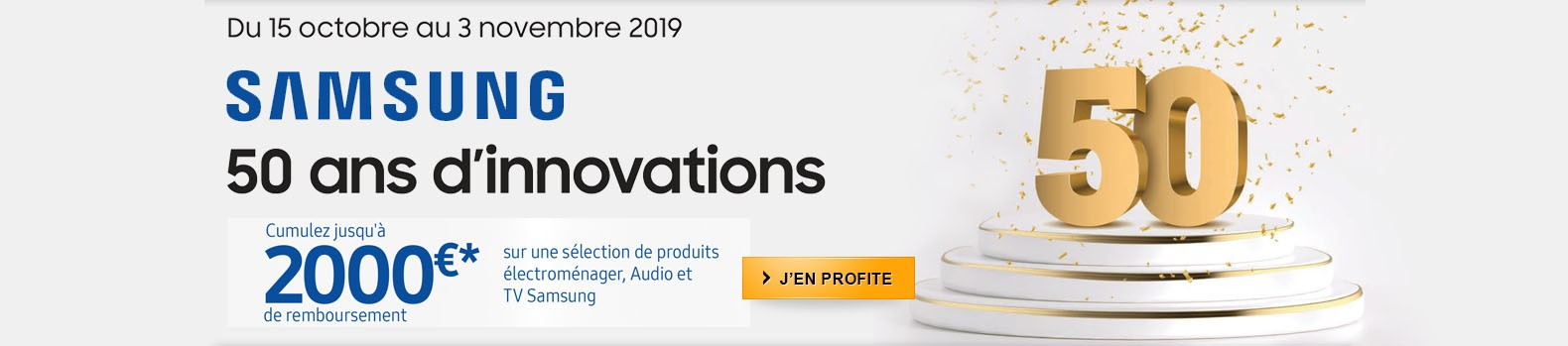 Offre Anniversaire Samsung 50 ans d'innovations