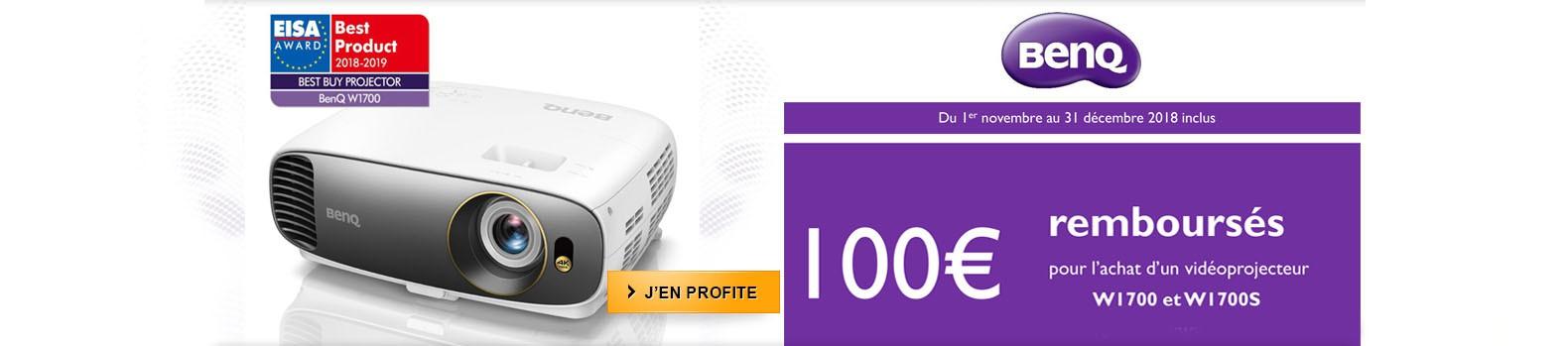 100€ remboursés pour l'achat d'un projecteur 4K BenQ W1700