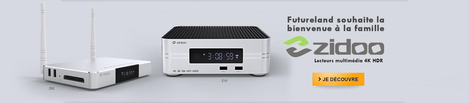 Futureland souhaite la bienvenue à la famille de lecteurs multimédia 4K HDR ZIDOO