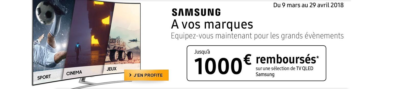 A vos marques ! Samsung vous rembourse jusqu'à 1000€ pour l'achat d'un téléviseur 4K QLED