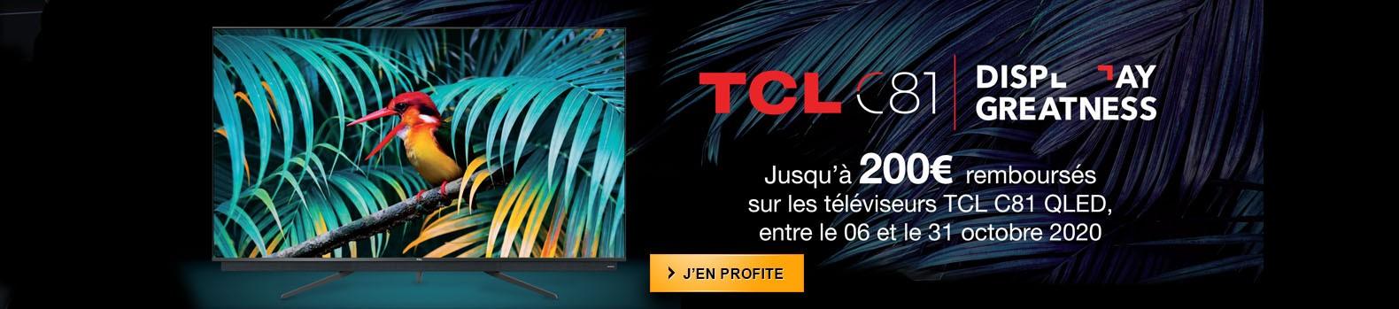 Jusqu'à 200€ remboursés pour l'achat d'un téléviseur QLED TCL