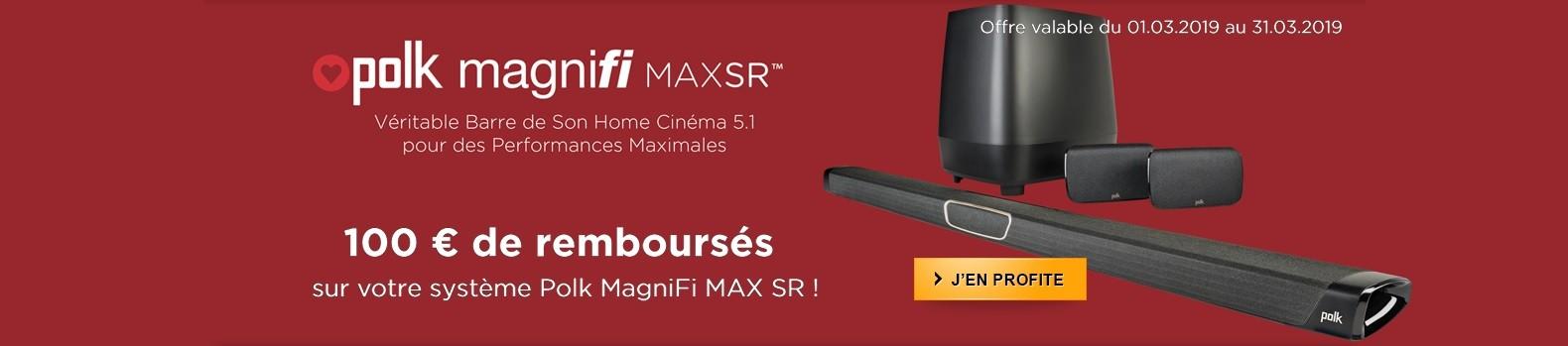 100 euros remboursés pour l'achat d'une barre de son Polk Magnifi SR Max