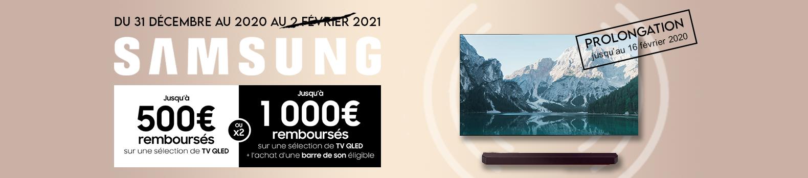 Jusqu'à 1000 € remboursés pour l'achat d'une TV QLED Samsung !