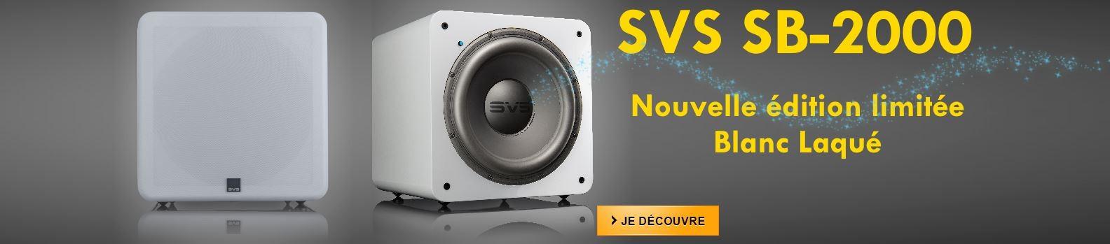 SVS SB-2000 blanc laqué disponible en édition limitée