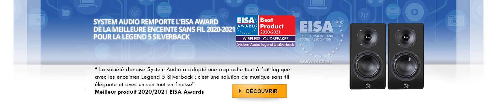 System Audio remporte l'EISA award de la meilleure enceinte sans fil 2020-2021
