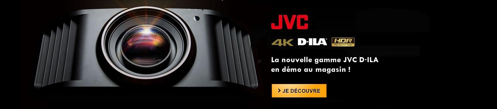 Nouvelle gamme JVC D-ILA en démonstration au showroom