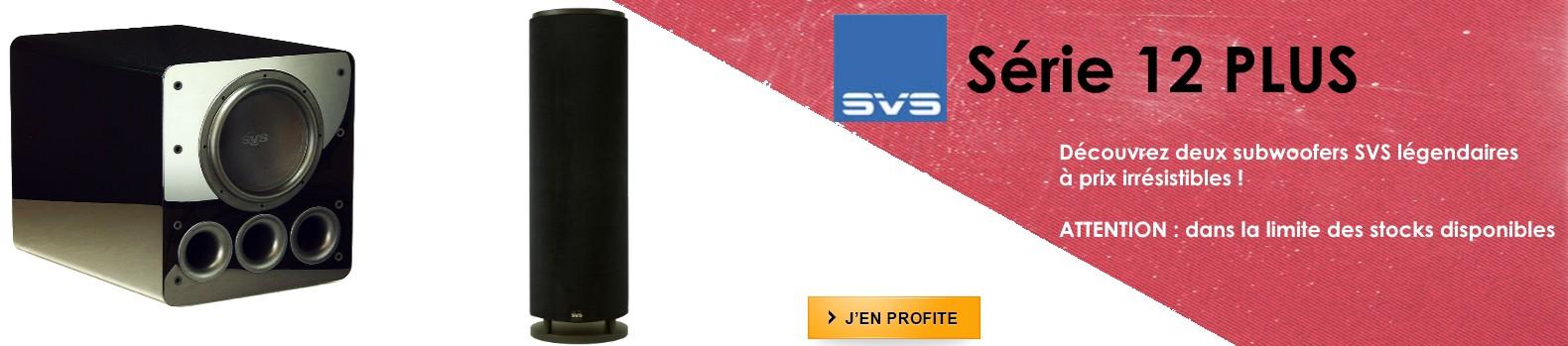 Subwoofers SVS PB12-PLUS et PC12-PLUS en promotion