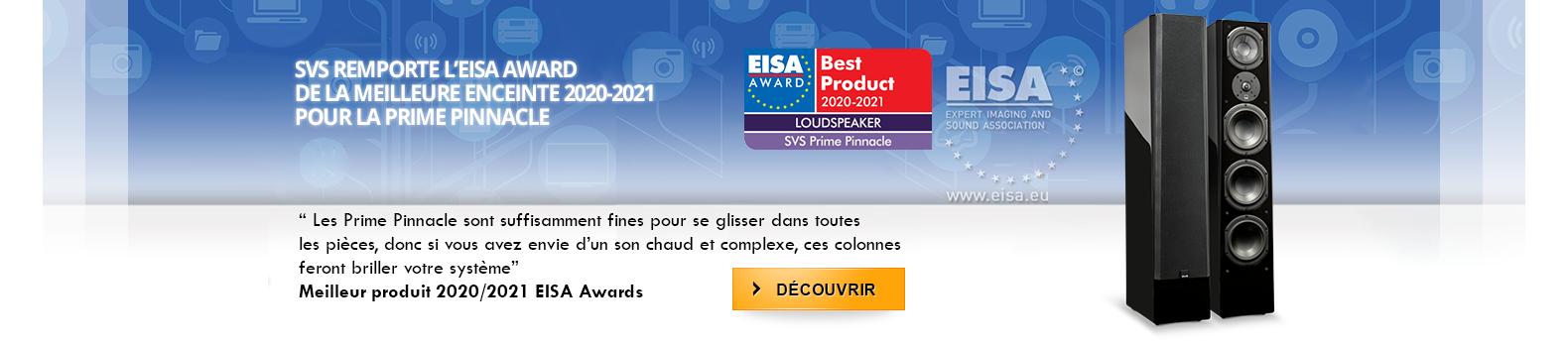 SVS remporte l'EISA award de la meilleur enceinte 2020-2021