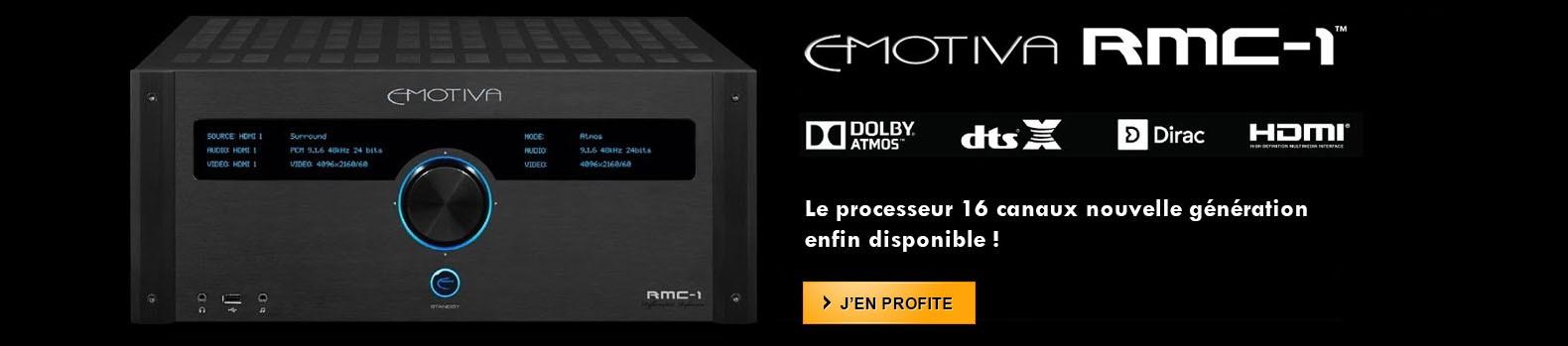 Le nouveau préampli Home Cinéma 16 canaux Emotiva RMC-1 est arrivé !