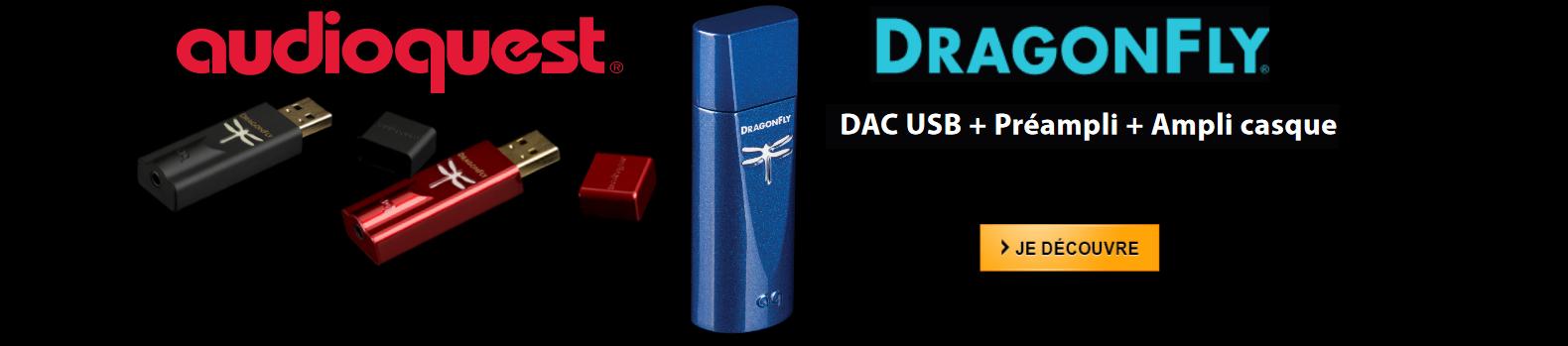 Découvrez la gamme complète AudioQuest Dragonfly chez Futureland