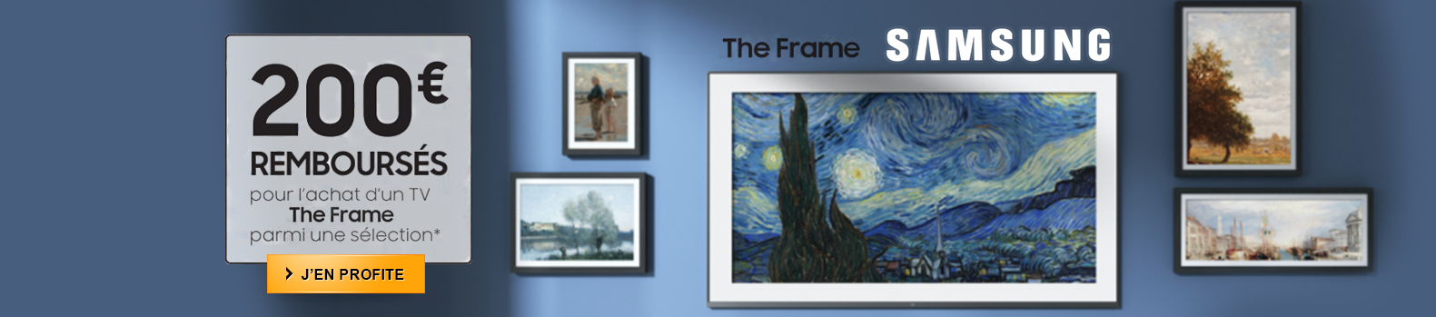 Jusqu'a 200€ remboursés sur les téléviseurs Samsung The Frame