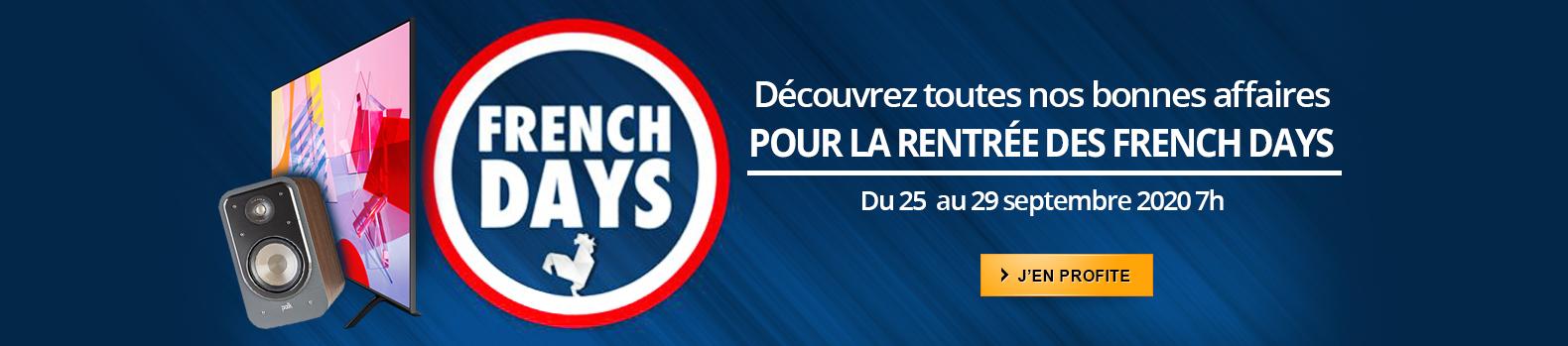 Les French Days font leur rentrée juqu'au 29 septembre 2020 7h